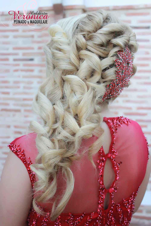 semirrecogido con ondas peinados  novia domicilio verónica calderón
