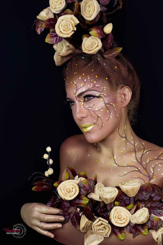 maquillaje caracterización hadas