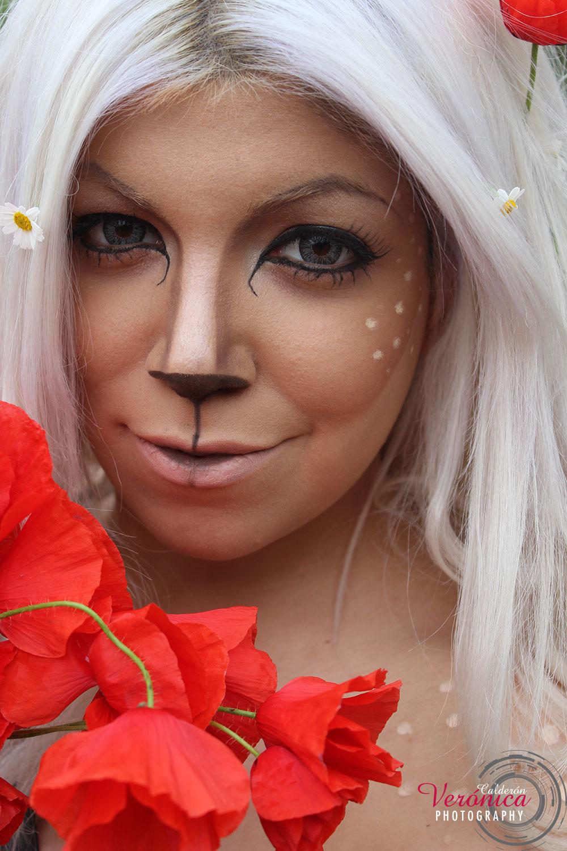 maquillaje caracterización cervatillo bambi domicilio Verónica Calderón