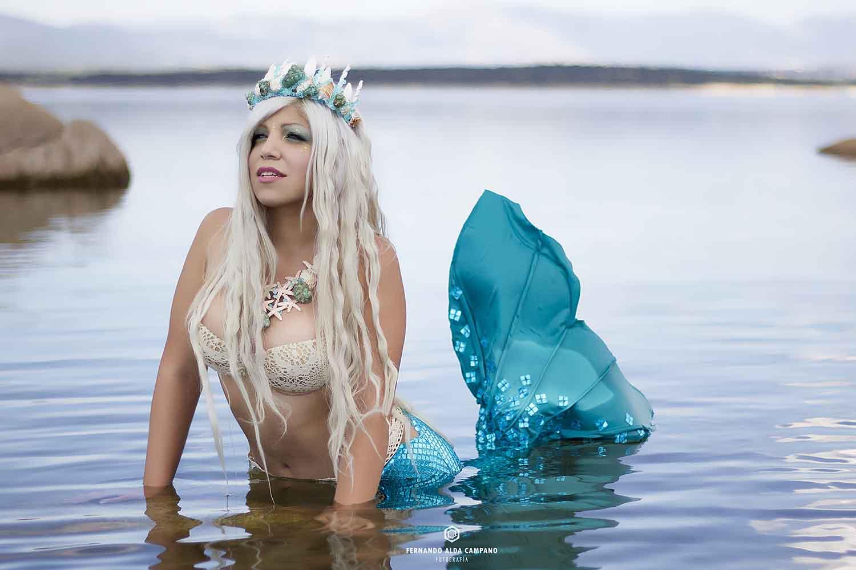 maquillaje caracterización sirena mermaid