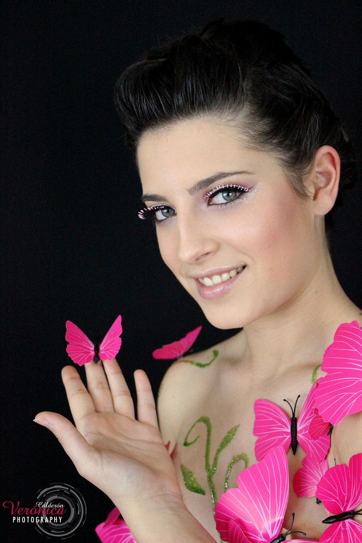 maquillaje fantasía mariposas Verónica Calderón caracterización
