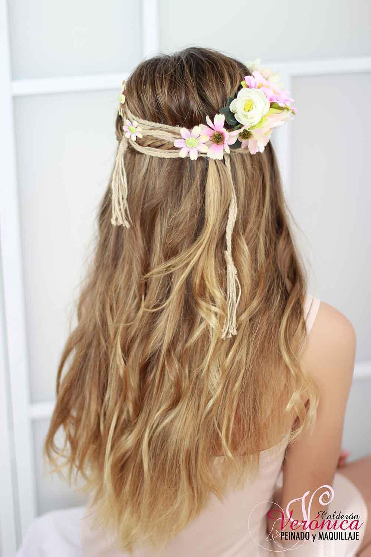 peinado novia melena suelta ondas suaves domicilio bodas veronica calderon