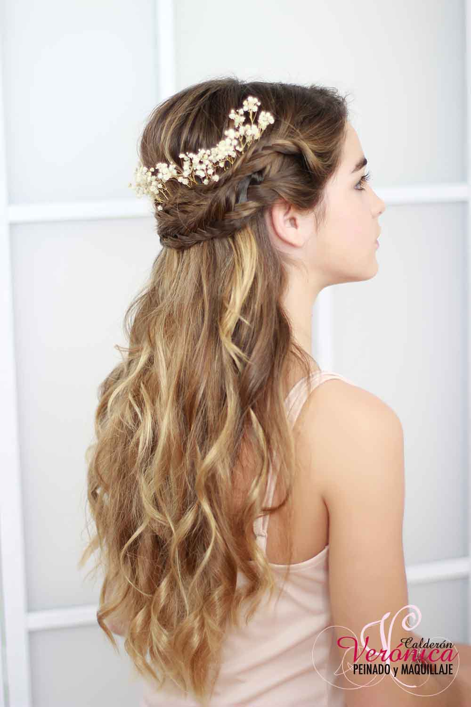 peinado novia melena suelta efecto despeinado