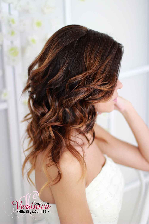 peinado novia melena suelta ondas suaves