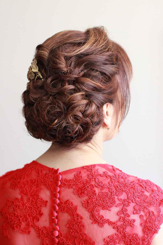 peinado invitada boda moño bajo despeinado casual mechones sueltos flequillo domicilio veronica calderon