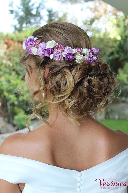 peinado novia moño bajo romántico despeinado estilo boho bodas veronica calderon