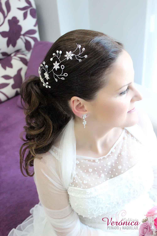 peinado novia coleta nupcial tocado artesanal bodas domicilio veronica calderon
