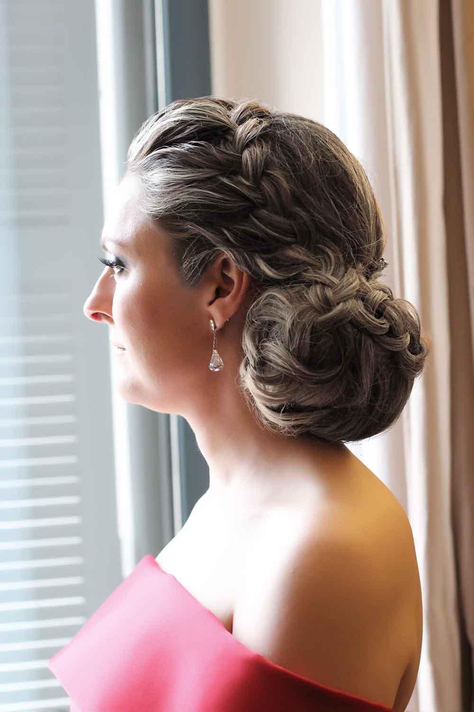 peinado invitada boda moño bajo trenza diadema bodas domicilio veronica calderón