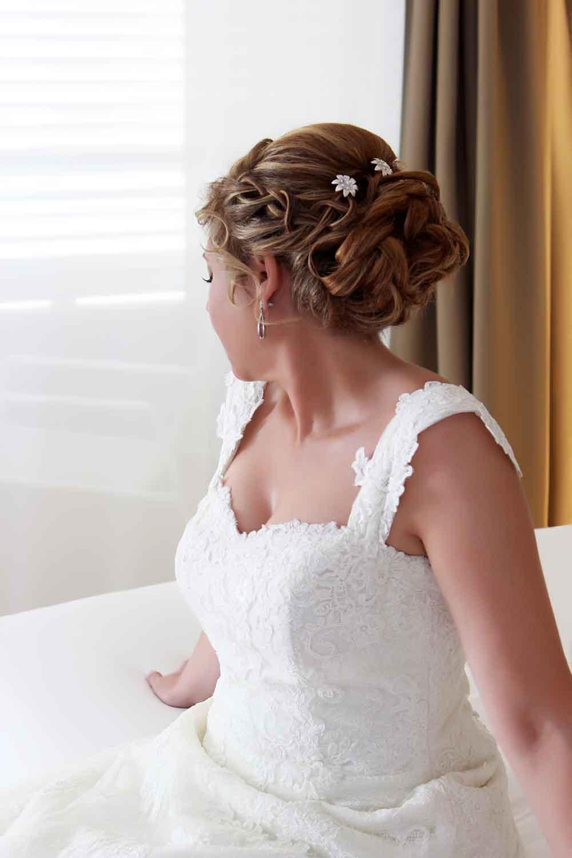 peinado novia moño romantico bajo despeinado casual juvenil trenza diadema bodas domicilio veronica calderon