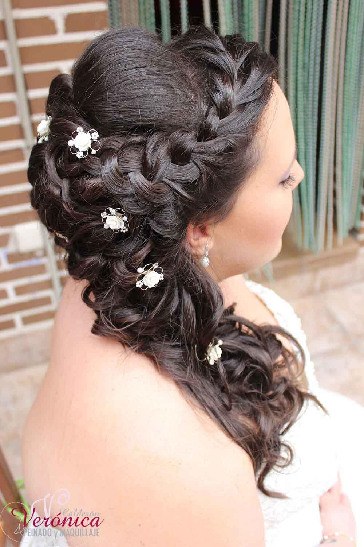 peinado-maquillaje-novia-invitada-domicilio-madrid-veronica-calderon-moño-romantico-semirecogido-lateral-trenza-diadema