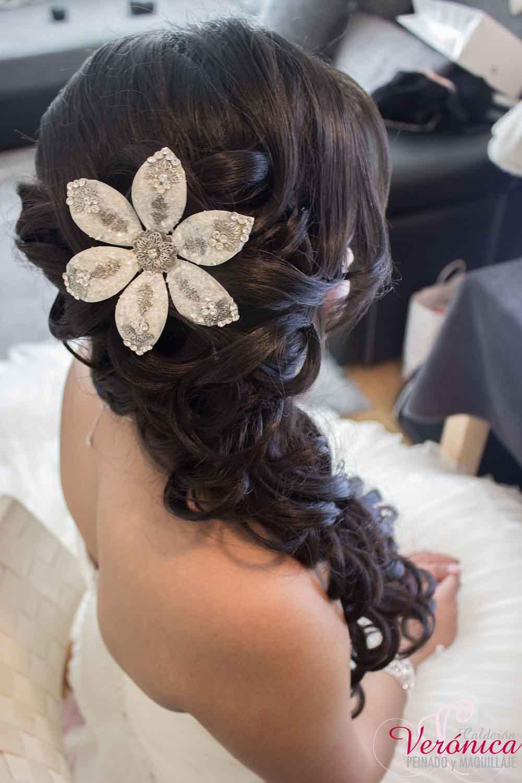 Mis trabajos peinado nupcial veronica calderon - Peinados de boda semirecogidos ...