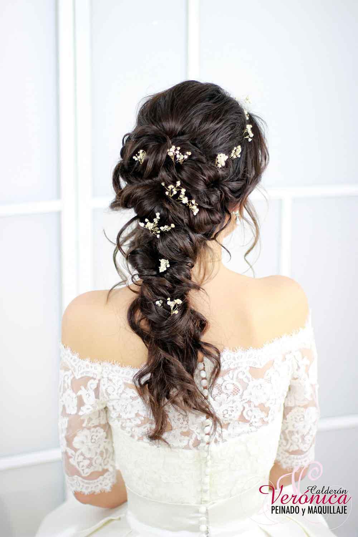 peinado-novia-efecto-despeinado-semirecogido-ondas-suaves-retorcidos-paniculata-peluquería-domicilio-madrid-verónica-calderón