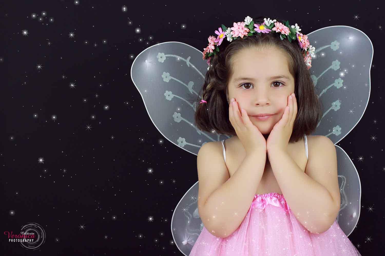 sesión fotos fotografía infantil fotógrafa niños fantasía hadas estrellas Verónica Calderón
